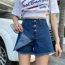 2019 New Jean Shorts Women Summer Denim Short Tassel Bodycon Korean Style streetwearJeans