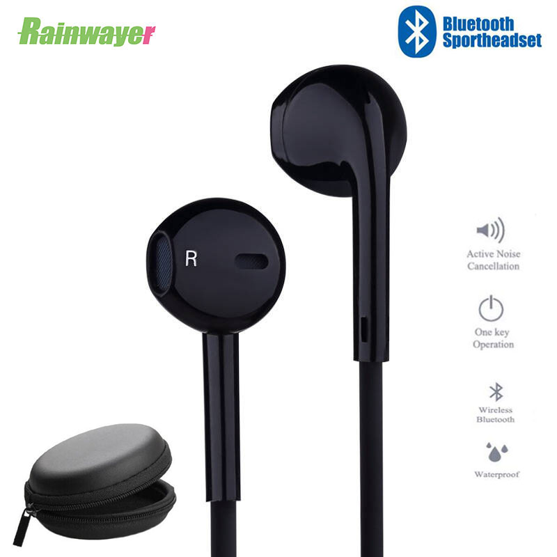Sport Neckband S6 Wireless Headphone Bluetooth Call Volume Control Earphone Mic Stereo Earbuds Headset For IPhone Samsung Huawei