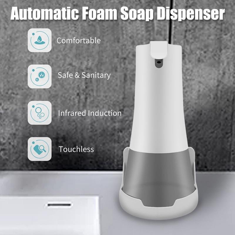 350ml Fully Automatic Foam Handwashing Device Intelligent Induction Bacteriostatic Soap Dispenser USB Charging Hand Washing