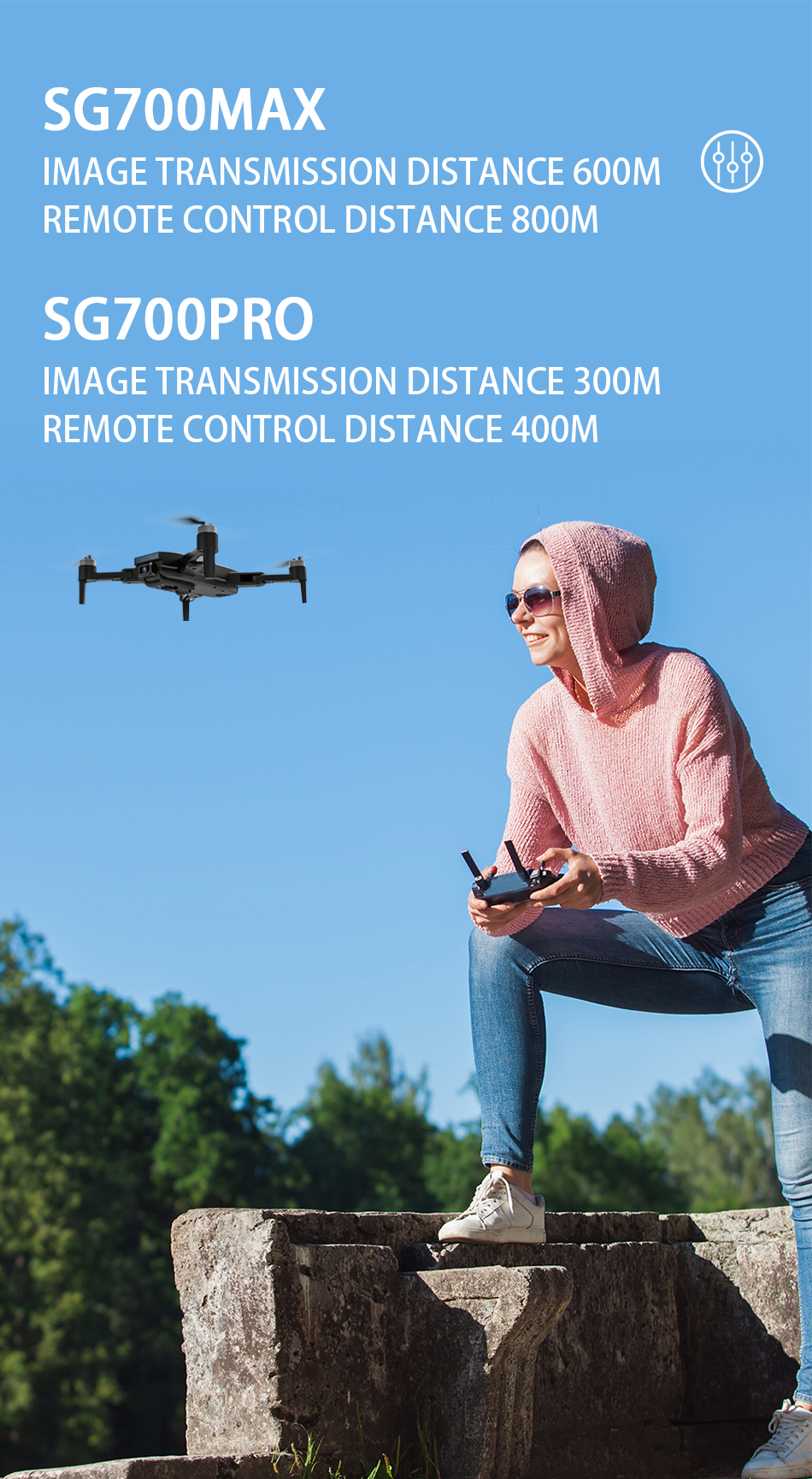 H612e9ed73a8442fe97e72636cc949bcaX - ZLL SG700 MAX Drone GPS 5G WiFi Dual Camera Brushless Motor Flight RC Distance 800m SG700 Pro Foldable Professional Quadcopter