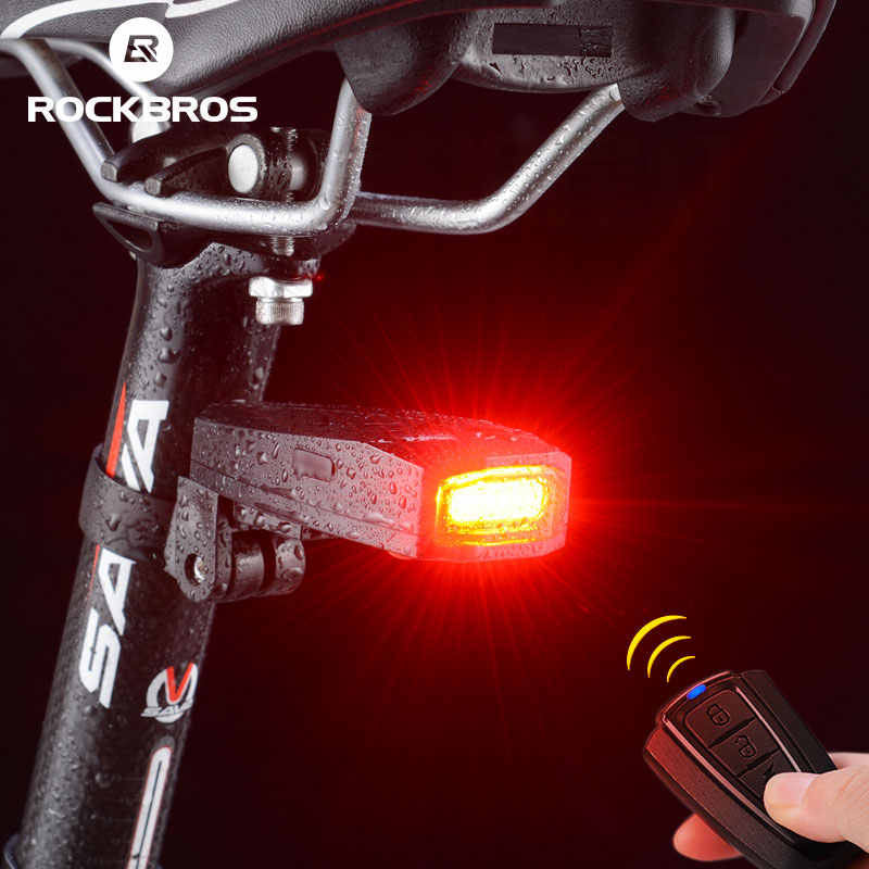 LED Rear Light Red With Battery 5 Glow Modes IPX5 Waterproof For Bicycles E-Scooter