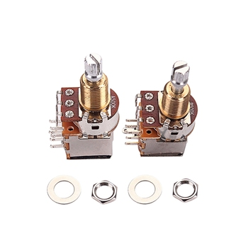 2Pcs(A500K+B500K )Push Pull Control Pot Potentiometer for Electric Guitar Bass Volume Control Guitar Switch Knob Accessary 128 pairs associated with switch potentiometer b500k 15mm