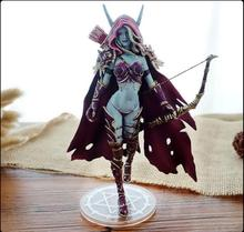 7'' WOW Sylvanas Windrunner Archery Queen PVC Anime Action Figure Model With Base Collectible Toys cataclysm lady sylvanas windrunner action figure pvc collection model toys