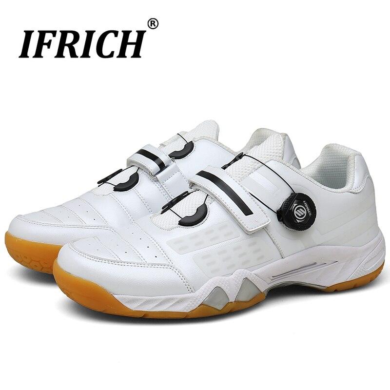Chaussures de Badminton professionnelles pour hommes Sport respirant baskets athlétiques chaussures de Tennis femmes hommes blanc Badminton baskets 2019