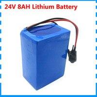 24v 8ah 7S4P battery 15A BMS 250w 29.4V 8000mAh battery pack for ebike wheelchair motor kit electric power