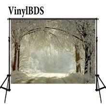 KATE Photography Backdrops 8x8ft Snow Forest Background Winter Photography Backdrops Christmas Backdrop Fairy Tale Forest Photo kate blue snow photo backdrop christmas with trees bokeh light backdrops fotografia washable and seamless baby shower backdrop