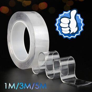 1/2/ 3 /5 m Nano Double side Adhesive Tape Nano-free magic Two side Adhesive , Double-Sided No Traces Washable Adhesive Tape