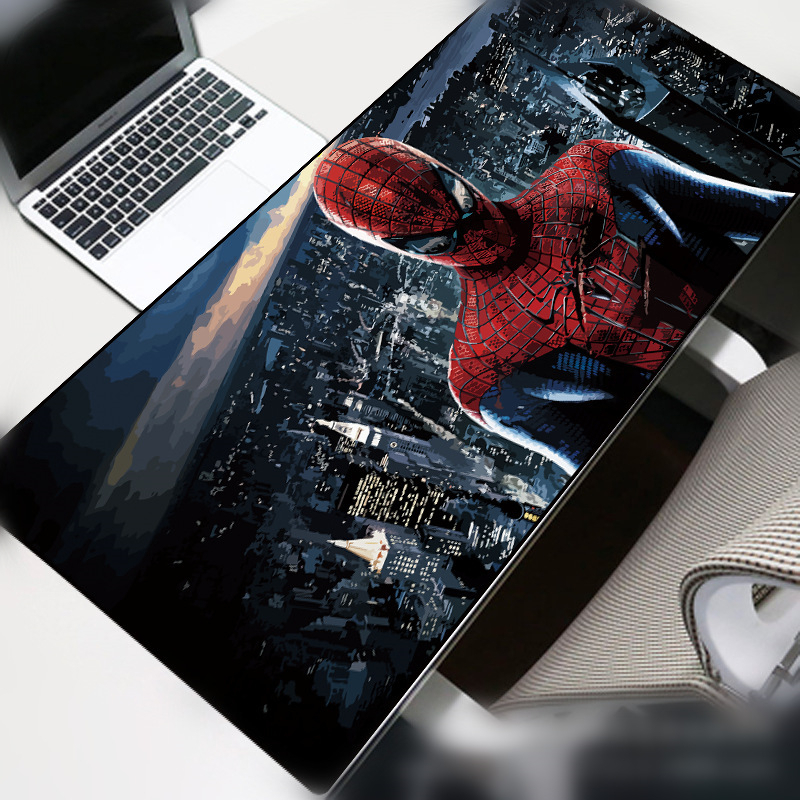 Spiderman Portable Large Mouse Pad 70x30cm Gamer Waterproof PU  Desk Mat Computer Mousepad Keyboard Table Cover For LOL