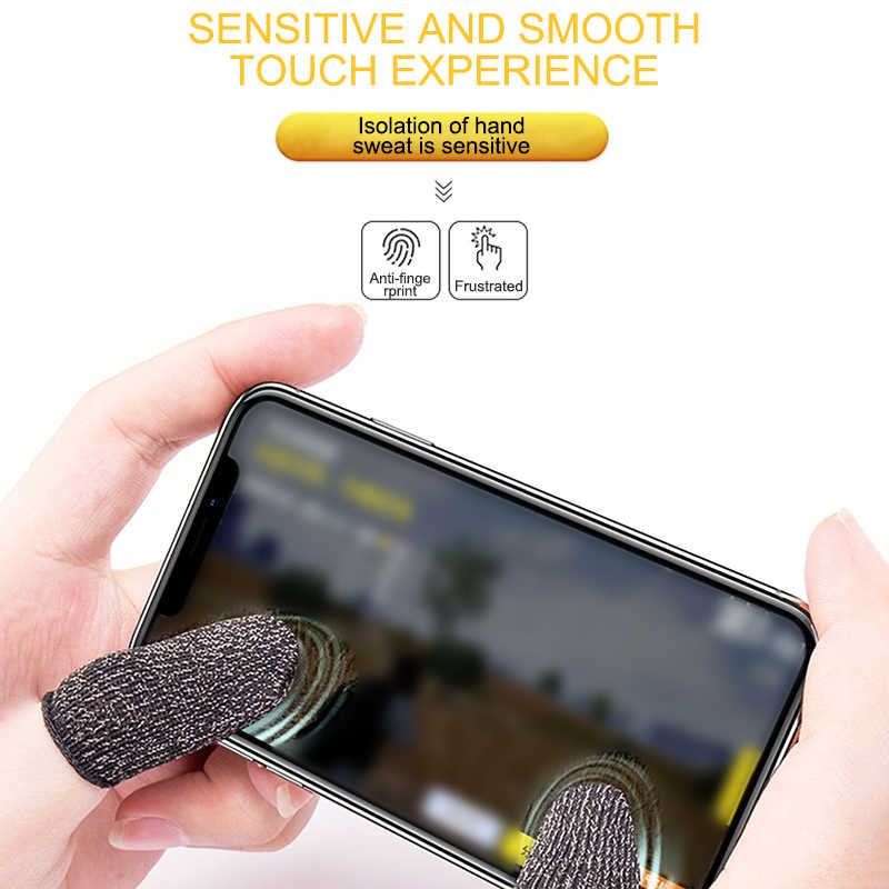 Oddychający kontroler do gier osłona palca odporne na pot rękawice do gier Finger non-scratch Sleeve Sensitive Nylon Mobile Touch Screen