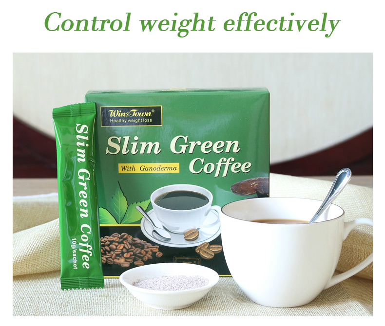 18 Teabags Slim Green Coffee with Ganoderma Control Weight Detox Tea Weight Loss Slimming Fat Burning Health Tea Diet Pills 2