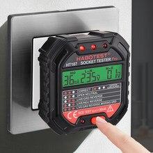 Habotest – testeur de prise HT107 Pro, Test de tension, détecteur de prise RCD 30mA, prise royaume-uni et ue, ligne zéro, vérification de la polarité de Phase
