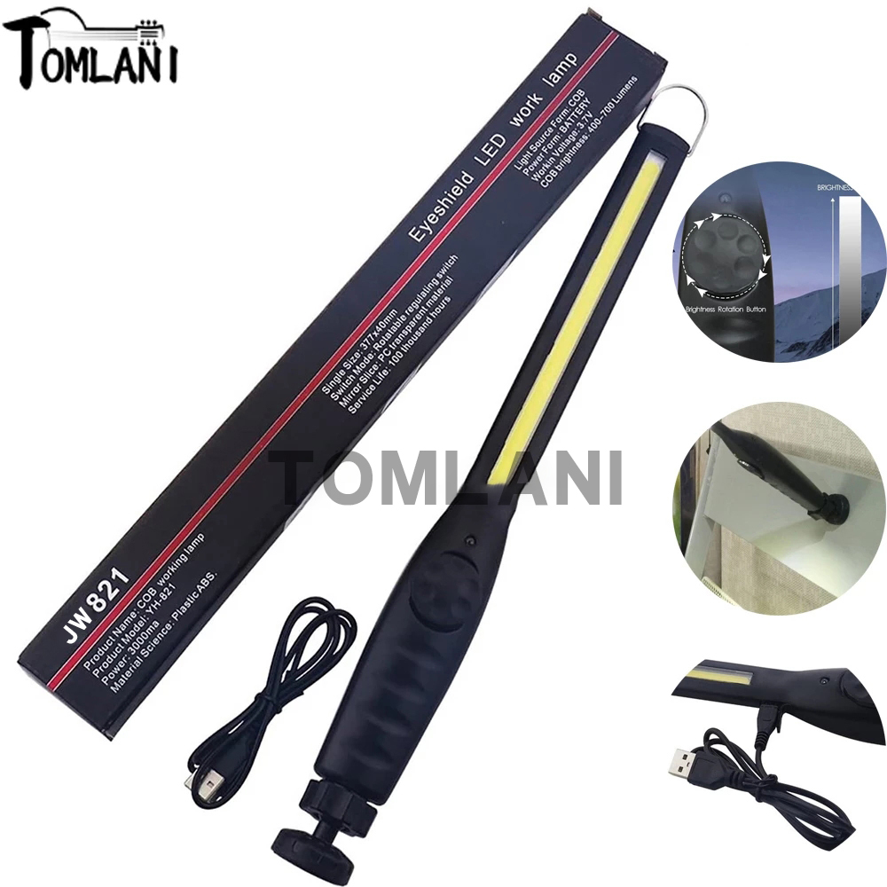 Permalink to 6000LM LED Work Light High Power Torch 1*COB Light Strip Magnetic Portable Flashlight Rechargeable Latern For Reparing Camping