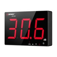 SNDWAY-indicador de nivel de sonido Medidor de nivel de sonido Digital, herramienta de medición de ruido para interior/exterior, medidor de decibelios colgante de pared, 30 ~ 130db