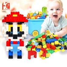 Блоки diy Большой размер От 1 до 3 лет игра обучающая игрушка