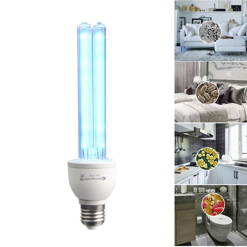 E27 25W UVC Ozone Ultraviolet Compact Germicidal Sterilization Quartz Light Lamp