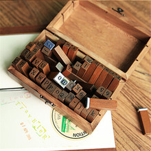 70pcs/set Number Alphabet Combination Letter Stamps with Wooden Box DIY Letter Diary Rubber Stamp Set Art Craft for Scrapbooking