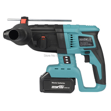 Hammer-Drill Electric-Hammer Cordless Rotary Rechargeable Battery 18V with One 4000mah