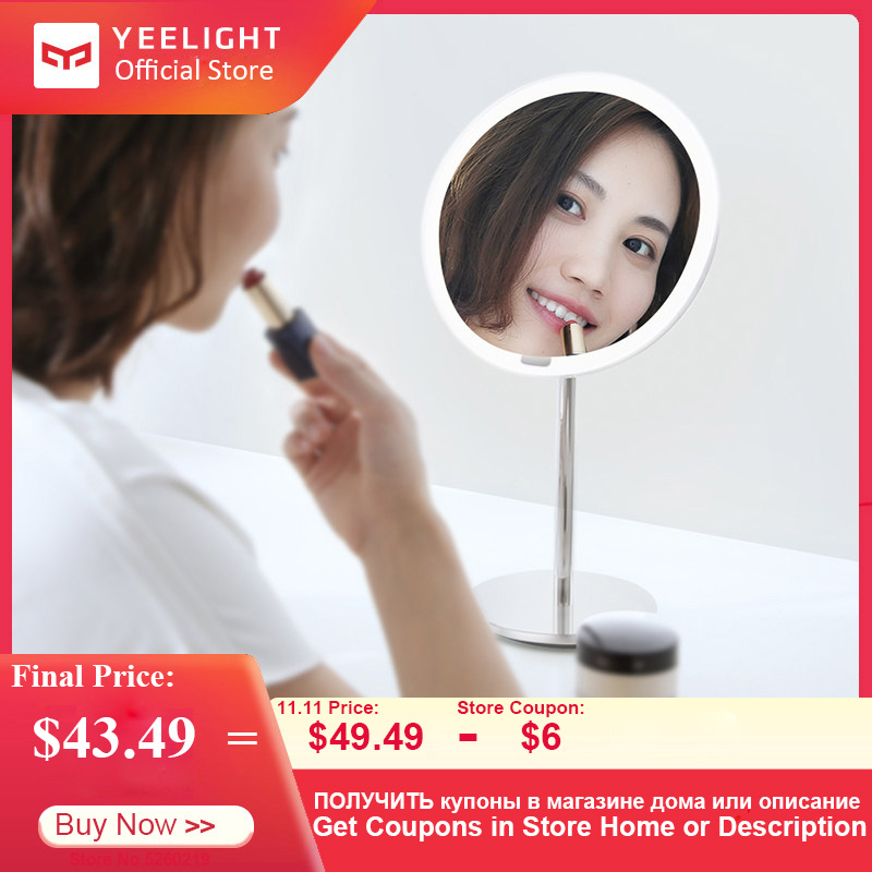 Yeelight Smart LED Makeup Mirror Lamp Intelligent Induction Face Control Switch Rechargeable Makeup Tool Novelty Lights