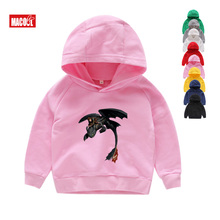 Toothless The Night Fury Hoodies 6T Baby Girls White Dragon Print Hoodies Children How To Train Your Dragon Black Sweatshirts boys girls toothless the night fury cartoon print hoodies sweatshirts kids funny clothes children pink long sleeves hoodies 7t