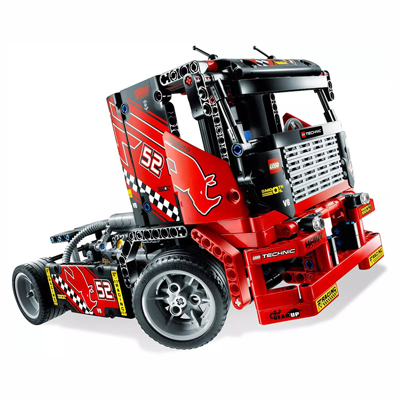Mechanical group <font><b>42041</b></font> Variable type kids toys 2 and 1 Racing truck model for <font><b>legoing</b></font> city Technic Truck car model blocks Race image