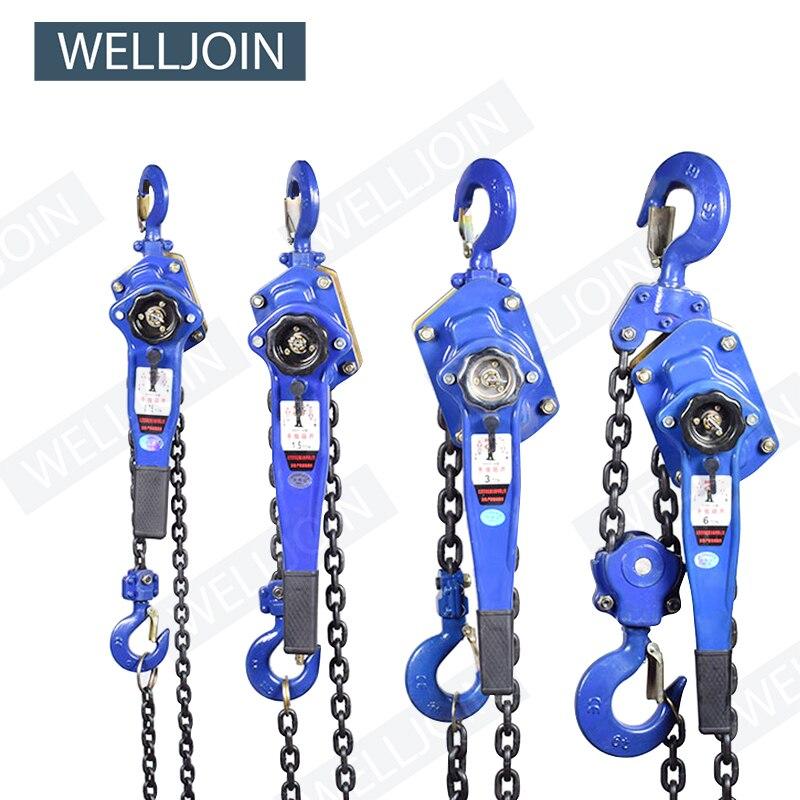 1 T Pulling Wrench Hoist Manual Lifting Chain Hoist Hand Chain Hoist Hook Portable Lever Block Inverted Chain Hoist Tightener