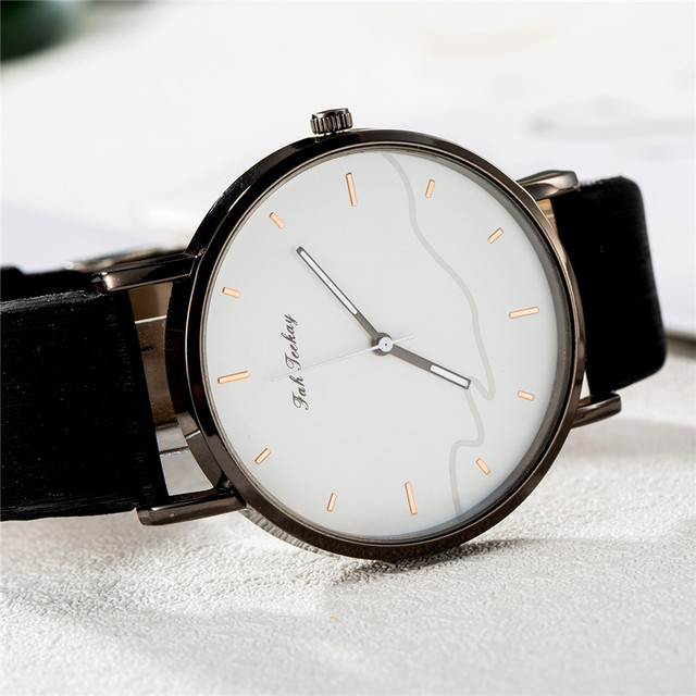 Couples Casual Leather Strap Wristwatch Set 5