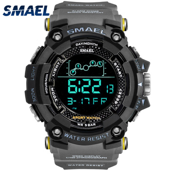 Digital Watch Swimming 50M Waterproof SMAEL LED Watches Timing Week Display Alarm Clock 1802 Men Sports relogio