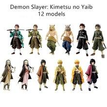Figuras de acción de Demon Slayer, Kimetsu No Yaiba, Tanjirou, Figur, Nezuko, juguete en PVC, muñeco de regalo de Agatsuma Zenitsu Inosuke