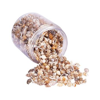 Over 1300 Pcs Mini Natural Beige ShellConch Beads Seaside Candle Jewelry Making - discount item  28% OFF Jewelry Making