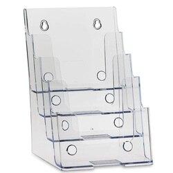 Прозрачный 4 круглый Ланч-бокс держатель Подставка для книг и журналов флаер держатель Подставка для наручных часов для 6 дюймов (Ш) X 9 дюймов...