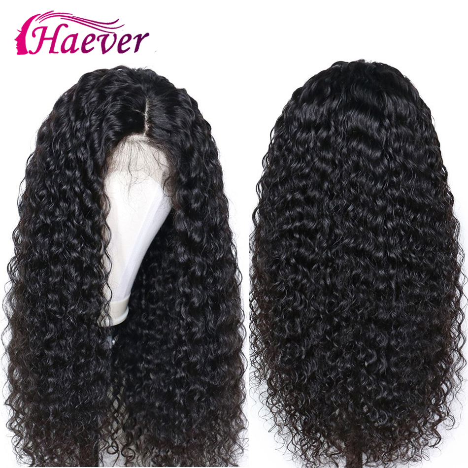 Haever Deep Wave 13x4 Lace Front Human Hair Wigs New Hair Natural Wig For Black Women Pre Plucked Peruvian Remy 180% Virgin Hair