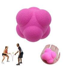Гексагональный мяч для реакции силиконовый шар для скручивания рефлекторных упражнений Спорт фитнесс тренировка мяч