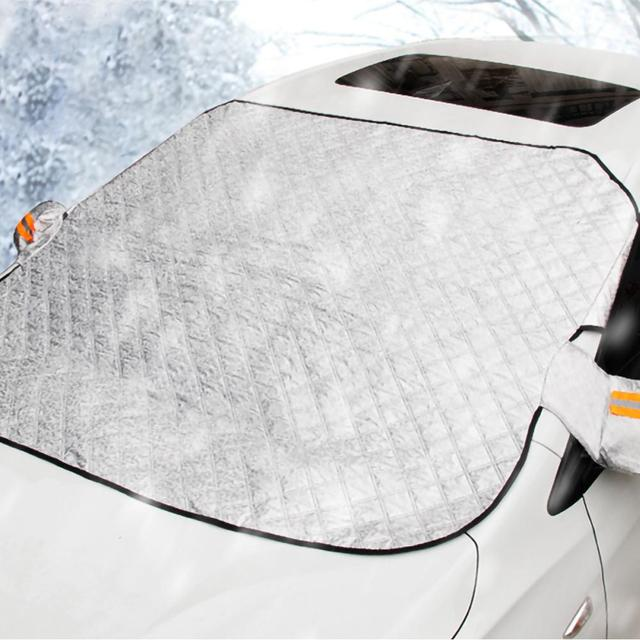 240*190cm Magnetic Car Windshield Snow Cover Tarp Winter Ice Scraper Frost Dust Guard Sunshade Protector Protector Heat Sun Mat