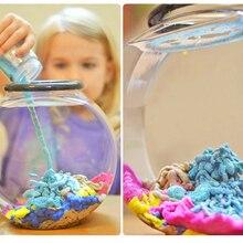 2 бутылки фантастический песок не промокает в воде DIY Подводное моделирование для детей развивающие игрушки для детей Космический песок удивительный