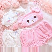 2020 inverno das mulheres pijamas anime cosplay traje bonito meninas kawaii sutiã e calcinha conjunto rosa veludo branco sexy pijamas camisola