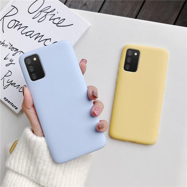 Candy Color Silicone Phone Case For samsung galaxy A12 A42 A52 A72 A32 5G M02S A02S M31s Matte Soft Tpu Back Cover Fundas Coque 5
