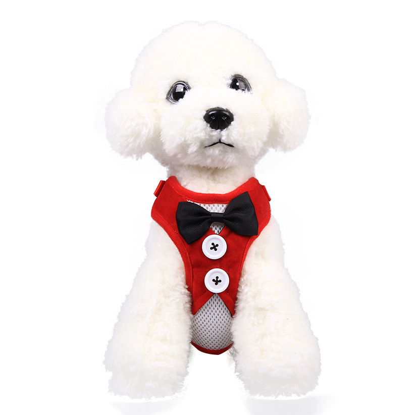 Pet Supplies Dog Vest Hand Holding Rope Pet Household Bow Formal Dress Small Dog Supplies