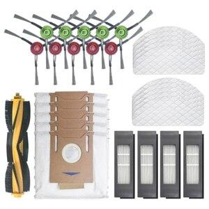 Para ecovacs deebot ozmo t8 varrendo robô aspirador de pó escova lateral principal filtro de limpeza descartável mop poeira sacos