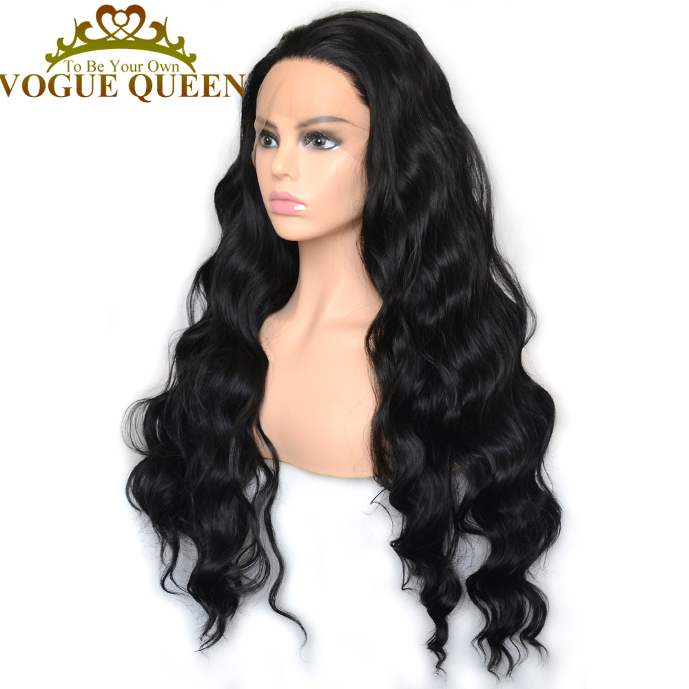 Vogue Queen 1B Loose Curly Synthetic Lace Front Long Wig High Density Daily Wearing For Women