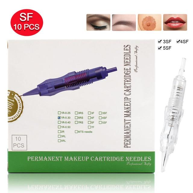 Biomaser Permanent make up nadeln 3SF 4SF 5SF Hang Microblading Tattoo Nadel für Augenbraue lippe Make Up Stift Maschine Nadeln Tipps