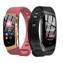 E18 monitor de freqüência cardíaca fitness rastreador vida à prova dip67 água ip67 esportes relógio de pulso para android e ios relógio inteligente masculino pulseira