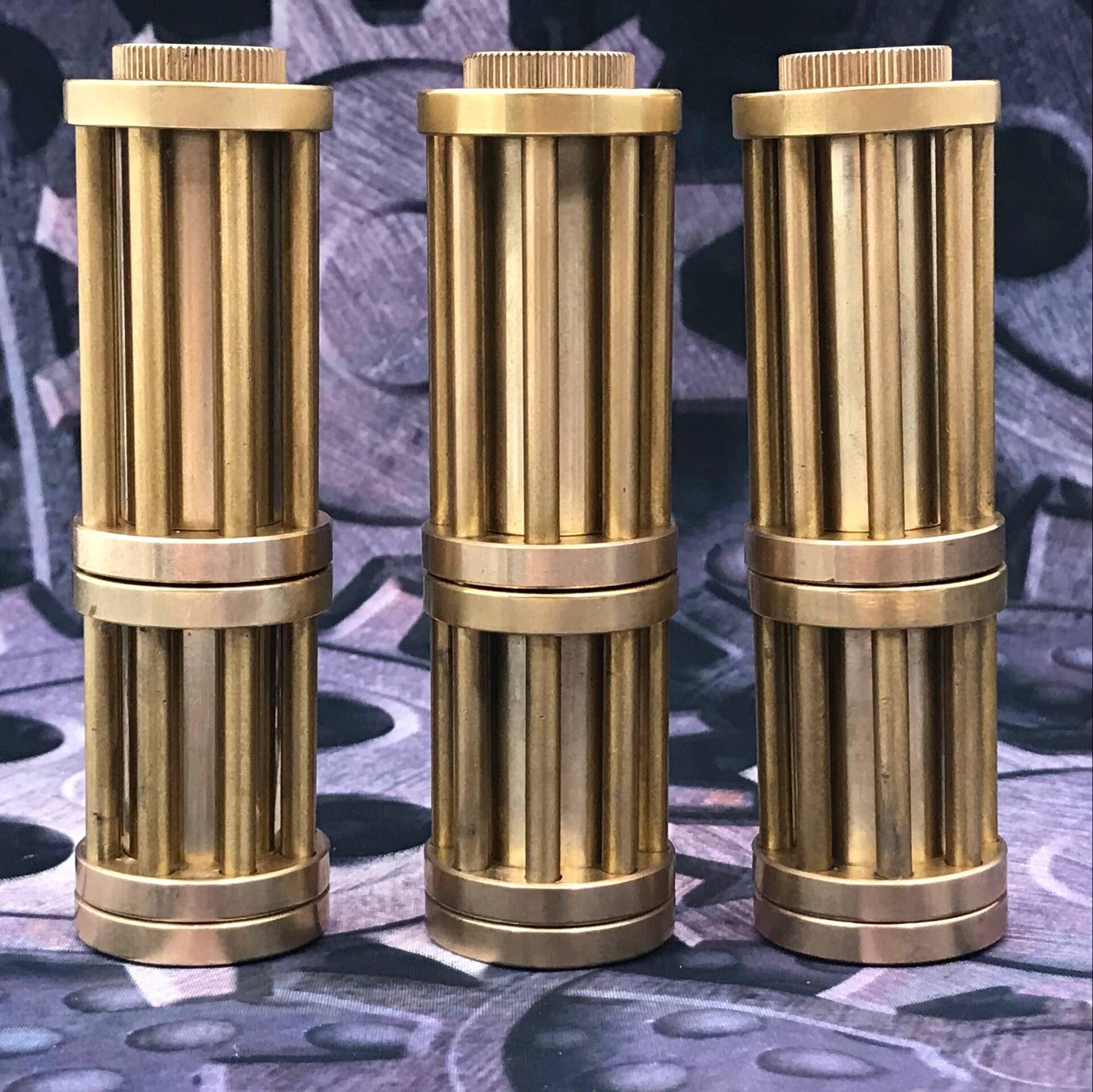 Ретро ручная Чистая латунная Зажигалка Ветрозащитная кремневая