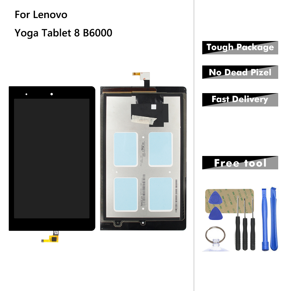 Display For Lenovo Yoga Tablet 8 B6000 B6000 H LCD Display Touch Screen Digitizer Glass Panel Assembly Replacement + Tools|Tablet LCDs & Panels| |  - title=