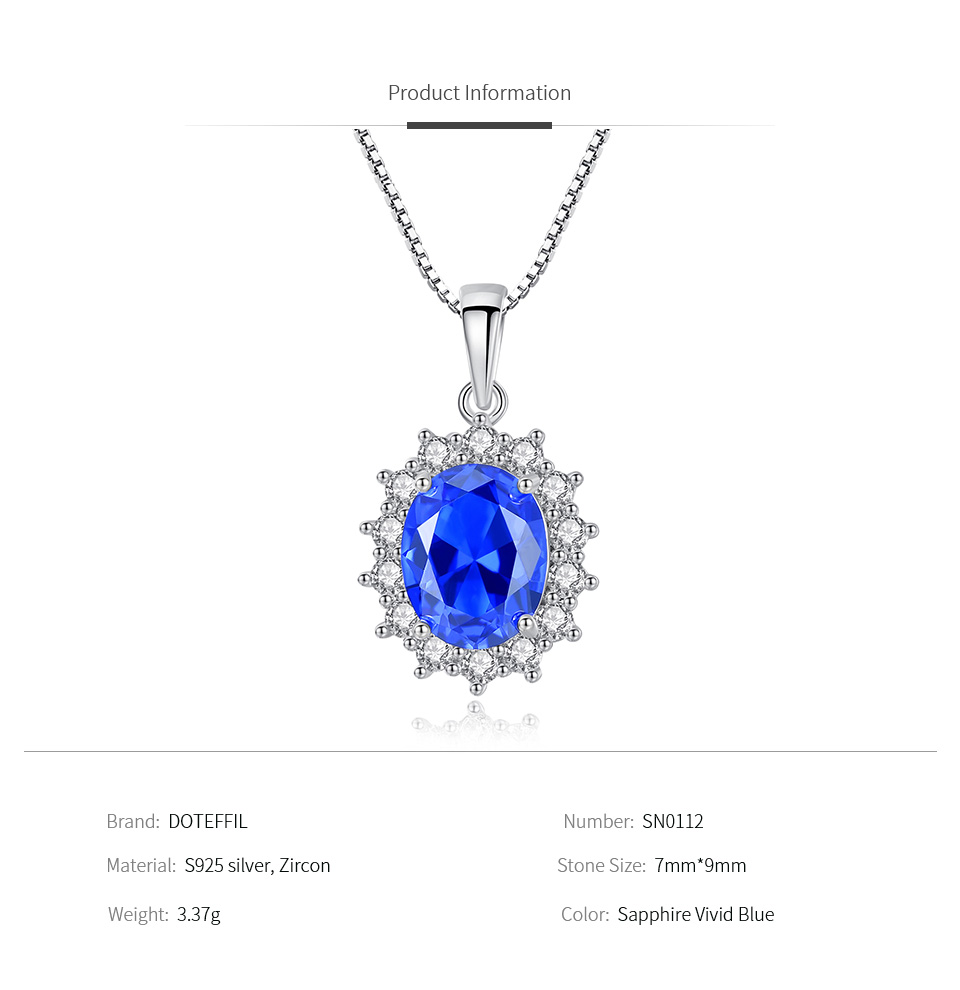 Sterling Silver Jewelry Pendants /& Charms Solid Diamond Sapphire Oval Pendant