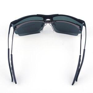 Image 3 - Мужские большие солнцезащитные очки Vazrobe, поляризационные очки без оправы с широкой оправой, 165 мм, для вождения, спорта