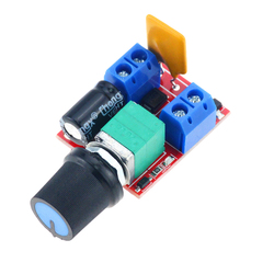 1PCS Mini 5A Max 90W DC Motor Speed Controller Module DC 3V-35V Speed Control Switch LED Dimmer