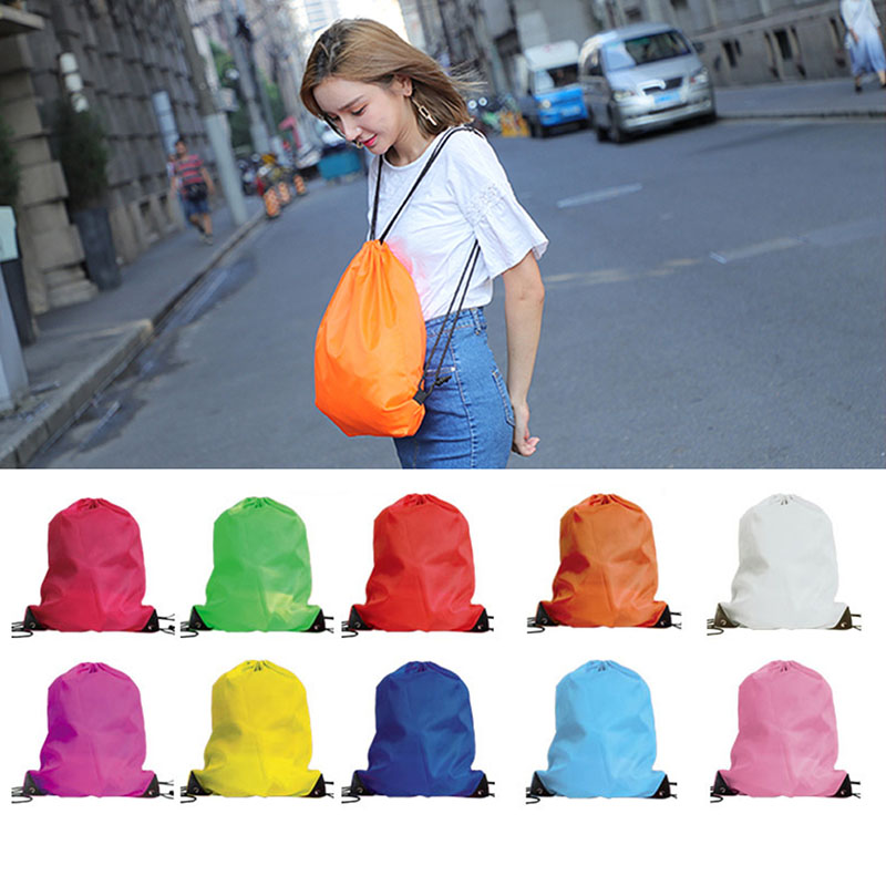 2019 Drawstring Bag Sports Waterproof Backpack Bundle Pocket Custom Printing Logo For Men Women Students PE Shoe Sport Backpack