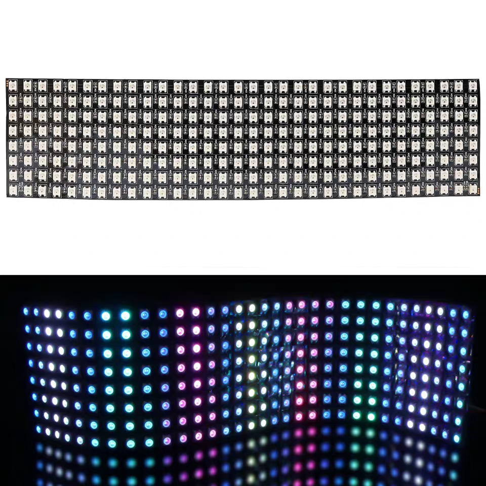 1 pcslot DC5V 16x16 Pixel WS2812B LED Digital Flexible Individually addressable Panel light (5)