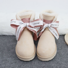 Women Shoes Snow-Boots Fur Sheepskin Zapatos-De-Mujer High-Quality New-Arrival