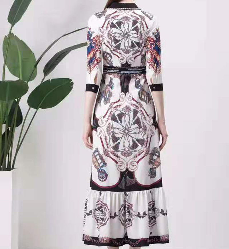 Одержимый лавандой. Новые платья, принты, этнические стили, осень, женская одежда, узоры, талия, элегантные вечерние - 6